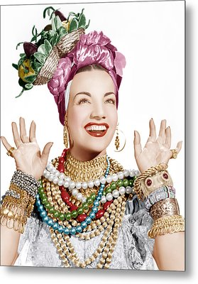 Carmen Miranda, Ca. Late 1940s Metal Print by Everett