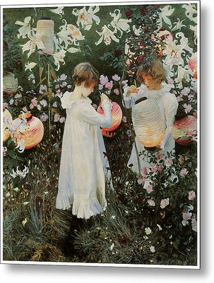 Carnation Lily Lily Rose Metal Print by John Singer Sargent