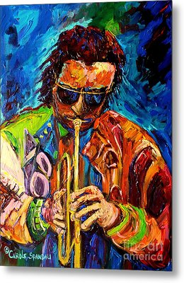 Carole Spandau Paints Miles Davis And Other Hot Jazz Portraits For You Metal Print by Carole Spandau