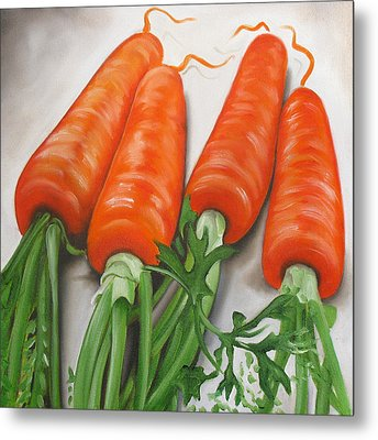 Carrots Metal Print by Ilse Kleyn