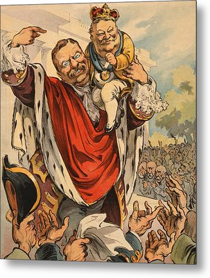 Cartoon Shows William Taft 1857-1930 Metal Print by Everett