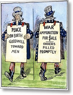 Cartoon: U.s. Neutrality Metal Print by Granger