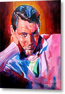 Cary Grant - Debonair Metal Print by David Lloyd Glover