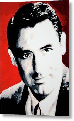 Cary Grant Metal Print by Luis Ludzska