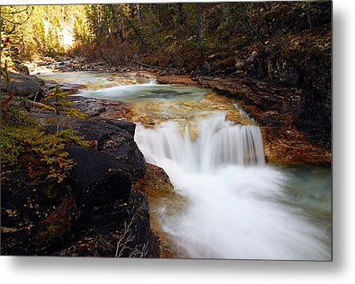 Cascade On Beauty Creek Metal Print by Larry Ricker
