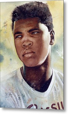 Cassius Clay Metal Print by Rich Marks