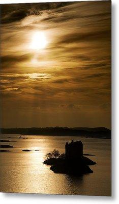 Castle Stalker At Sunset, Loch Laich Metal Print by John Short