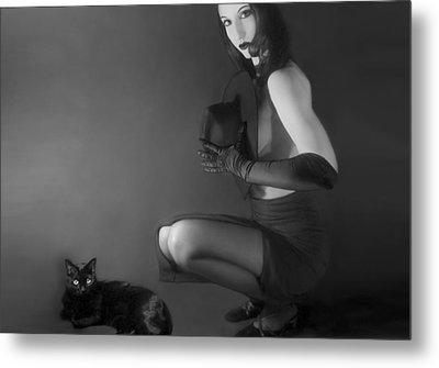 Cat Eyes - Self Portrait Metal Print by Jaeda DeWalt