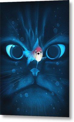 Cat Fish Metal Print by Nicholas Ely