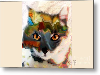 Cat Magic Metal Print by Marcy Orendorff
