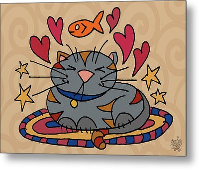 Cat Nap Metal Print by Jennifer Heath Henry