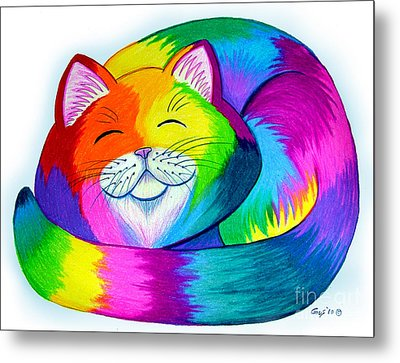 Cat Napping Metal Print by Nick Gustafson