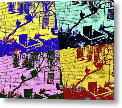 Cat Story Metal Print by Tetyana Kokhanets