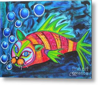 Catfish - Surf N'turf Metal Print by Claudia Tuli