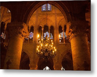 Cathedral Chandelier Metal Print by Mick Burkey