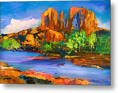 Cathedral Rock Afternoon Metal Print by Elise Palmigiani