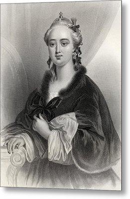 Catherine II, Catherine The Great Metal Print by Vintage Design Pics