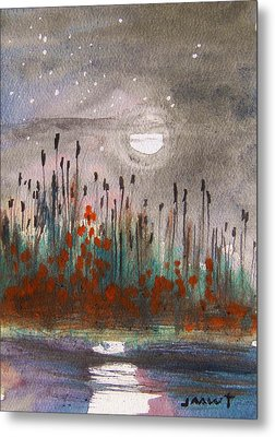 Cattails And Stars Metal Print by John Williams