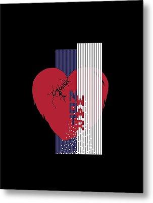 Cause Art Not War Transparent Metal Print by Wendy Rickwalt