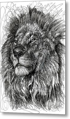 Cecil The Lion Metal Print by Michael  Volpicelli
