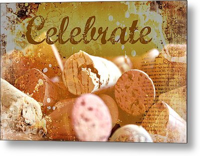 Celebrate Metal Print by Cathie Tyler