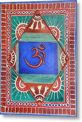 Celebrating Om Metal Print by Sandhya Manne