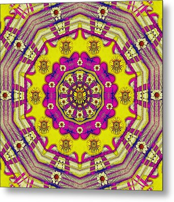 Celebrating Summer In Soul And Mind Mandala Style. Metal Print by Pepita Selles