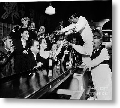 Celebrating The End Of Prohibition Metal Print by American School