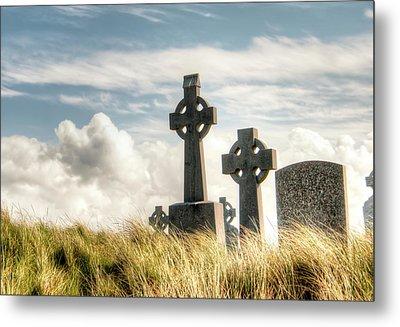 Celtic Grave Markers Metal Print by Natasha Bishop