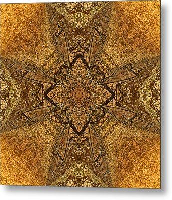 Celtic Mandala Abstract Metal Print by Georgiana Romanovna