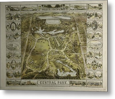 Central Park 1863 Metal Print by Duncan Pearson