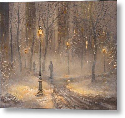 Central Park After Dark Metal Print by Tom Shropshire