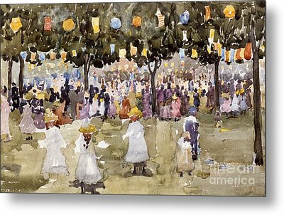 Central Park  New York City  July Fourth  Metal Print by Maurice Prendergast