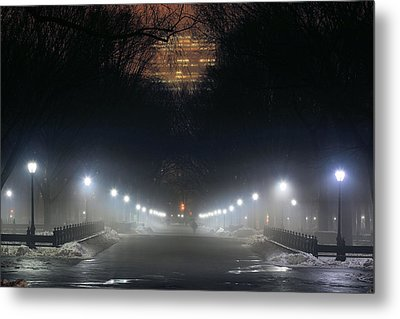 Central Park Shadows Metal Print by JC Findley