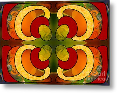 Centrally Located Abstract Art By Omashte Metal Print by Omaste Witkowski