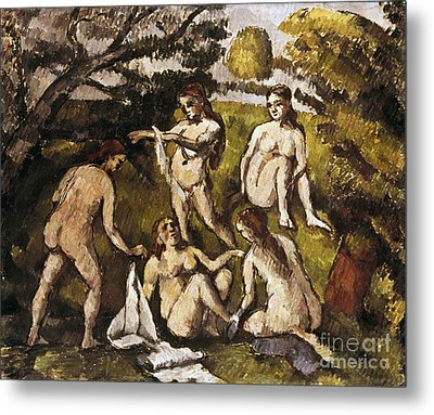 Cezanne: Five Bathers Metal Print by Granger