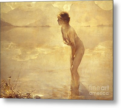 Chabas: September Morn Metal Print by Granger