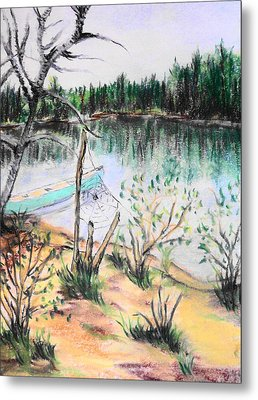 Chain Lakes Duck Mountain Mb Metal Print by Janice Robertson