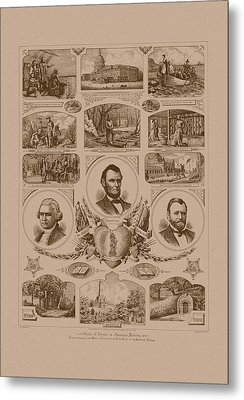 Chain Of Events In American History Metal Print by War Is Hell Store