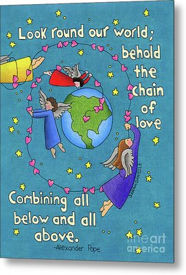 Chain Of Love Metal Print by Sarah Batalka