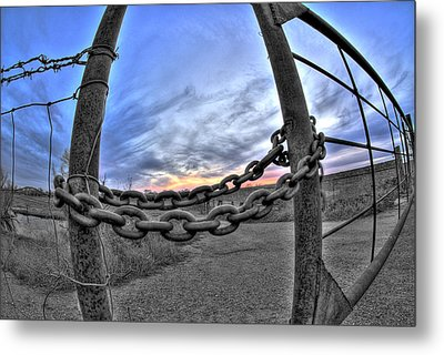 Chained Sky Metal Print by Tom Melo