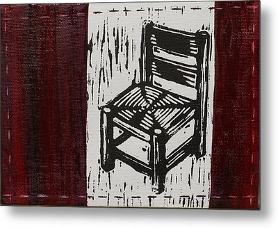Chair I Metal Print by Peter Allan