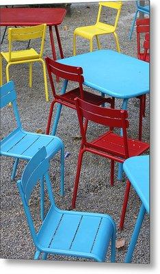 Chairs In Bryant Park Metal Print by Lauri Novak