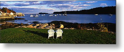 Chairs Lobster Village Me Metal Print by Panoramic Images