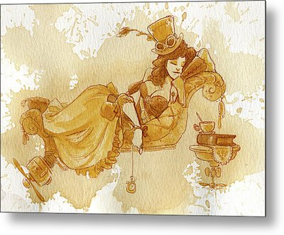 Chaise Metal Print by Brian Kesinger