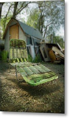 Chaise Lounge Metal Print by Yo Pedro