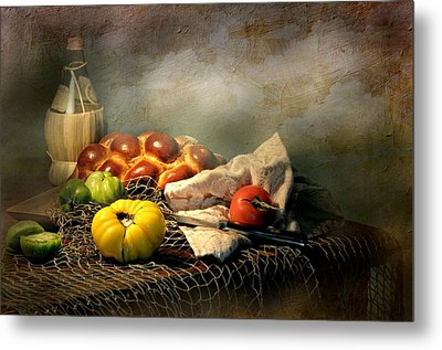 Challah Bread Metal Print by Diana Angstadt