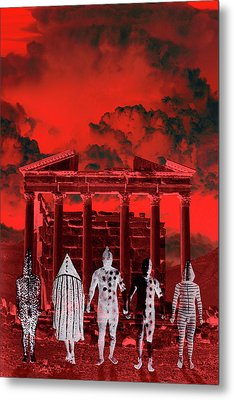 Chance Encounter In The City Of The Dead Metal Print by Mark Myers