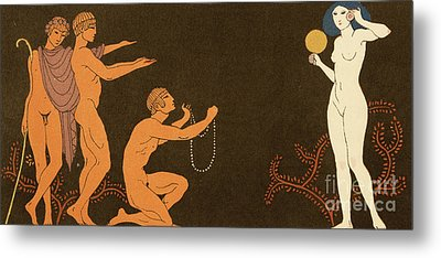 Chanson Metal Print by Georges Barbier