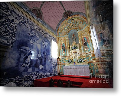 Chapel In Azores Islands Metal Print by Gaspar Avila